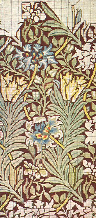 A William Morris carpet design of 1873