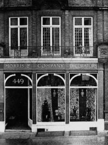 Morris & Company Decorators at 449 Oxford Street. 1877 - 1919