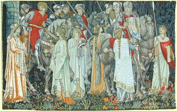 The original of this tapestry is at the Birmingham Museums and Art Gallery.  It is available in reproduction from www.CharlesRupertDesigns.com