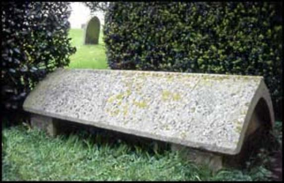 William Morris' Grave at Kelmscott churchyard. Jane is buried with him.