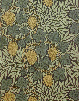 """Vine"" wallpaper in an 1897 colourway. One of four colourways available today from www.CharlesRupertDesigns.com"