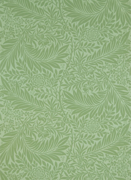 'Larkspur' wallpaper, designed by Morris in 1872. Now available in four colourways from www.CharlesRupertDesigns.com